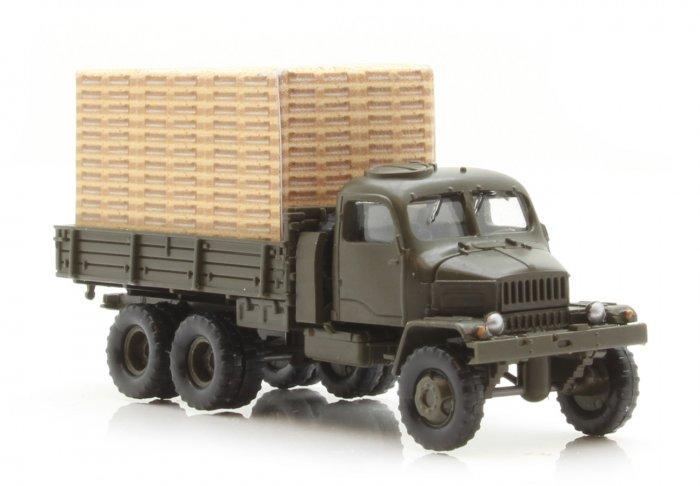 Igra Fertigmodell LKW Praga V3S Pritsche, militärgrün, Nenngröße TT (1:120)