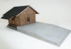 Igra Bausatz Güterschuppen mit Laderampe Nenngröße TT (1:120)