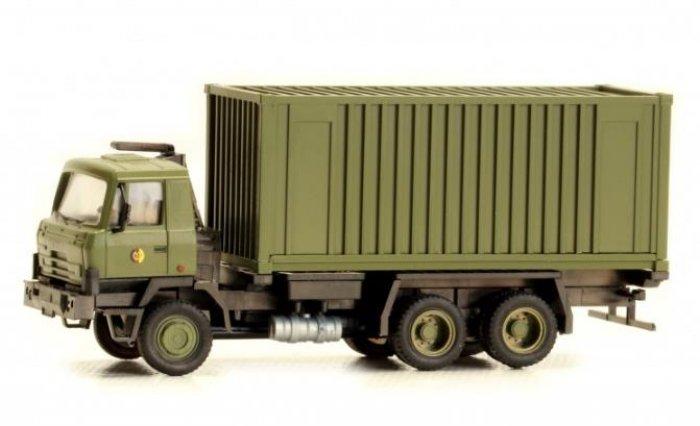 Fertigmodell Tatra 815 mit Container, NVA, Nenngröße H0