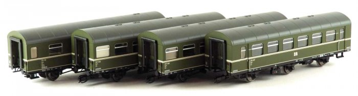 Kühn 42316 -  4er Set 3-achs. Reko Personenwagen, DR, Epoche III,  Spur TT