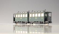 PMT/Technomodell Schmalspur Reisezug Doppelwagen K.sä.St.E.B  grün- Ep. I / VI - H0e