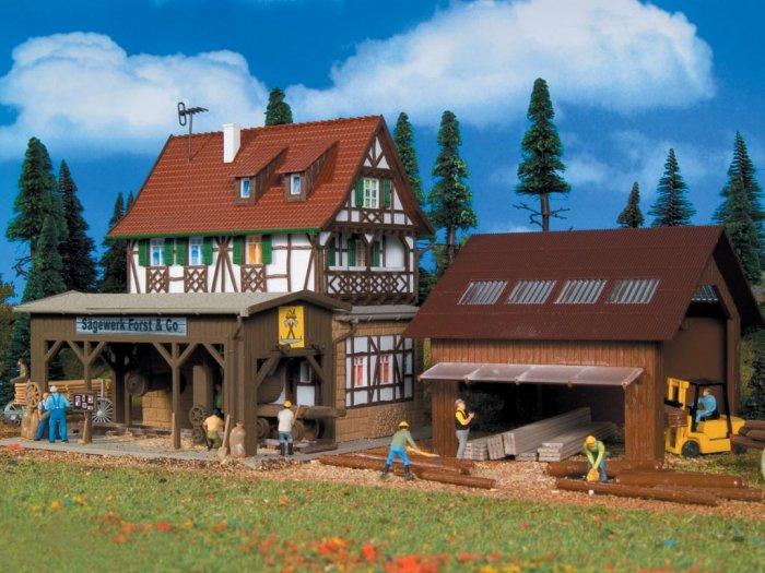 Vollmer Bausatz Sägewerk Forst & Co. Nenngröße H0