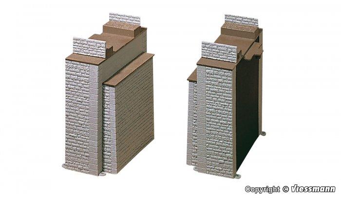 Vollmer Bausatz für 2 Brückenpfeiler/ Brückenköpfe, Nenngröße H0