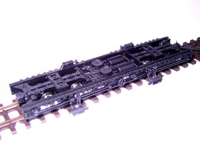 Modellbau Glöckner Fertigmodell Schmalspur Rollwagen lang DR, Nenngröße H0e, Spurweite 9mm