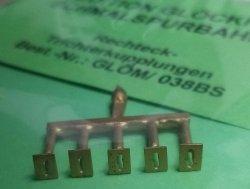 Bausatz 5 Stück Kupplungskopf Rechteck-Trichterkupplung für SKL, H0, H0m und H0e