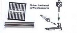 Bausatz Weichenlaternen-Anlenkhebel für 20 Auhagen Weichenlaternen, H0 und TT