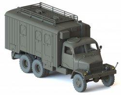 Igra Fertigmodell LKW Praga V3S Koffer mit Dachreeling, militärgrün, Nenngröße TT (1:120)