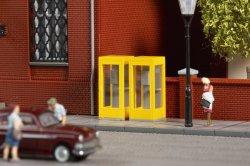 Auhagen 43667 Bausatz für 4 Telefonzellen und 2 Stand- und 4 Wandbriefkästen, Nenngröße TT