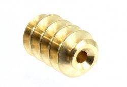 Schnecke Modul 0,4 Bohrung 1,0mm, L: 6,5mm, Material Messing