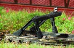 Auhagen 44653 filigraner Bausatz für 2 Stück Prellbock Spur N (1:160)