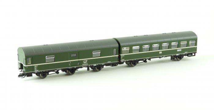 Kühn 2er Set 3-achs. Reko Personenwagen, DR, Ep.III,  Spur TT