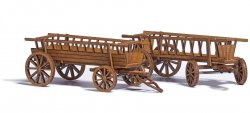 Busch 1385 Bausatz für 2 Leiterwagen (Heuwagen) Nenngröße H0