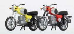 KRES 10261 Set 2 Motorräder MZ TS 250 (rot, gelb) Nenngröße H0 (1:87)
