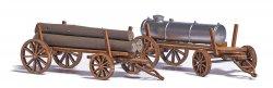 Busch 1386  Bausatz für 2 Holzwagen, Nenngröße H0