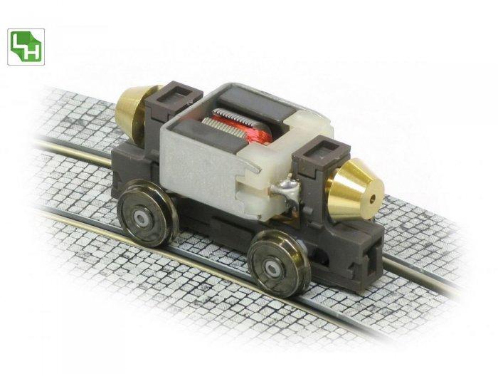 Leopold Halling ANT-VAR-H0m/ oder TT - Vario Antrieb - Fahrwerk 2-achsig, Achsabstand 23mm, 26mm und 30,4mm variabelSpurweite 12mm