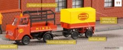 Auhagen 40503 -Bausatz  Multicar M22 mit Anhänger Minol-Service, Nenngröße TT