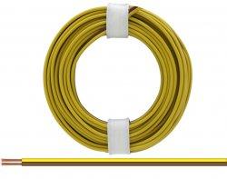 Zwillingslitze gelb/braun 2 x 0,14 mm² ,Länge: 5 m