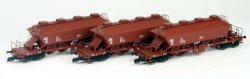 Kühn 93012 - 3er Set Kaliwagen Uaoos 9331, DR, Epoche IV, Spur N