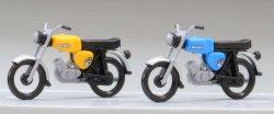 Kres 11150 - 2 Fertigmodelle - Simson S50, gelb und blau, Nenngröße TT