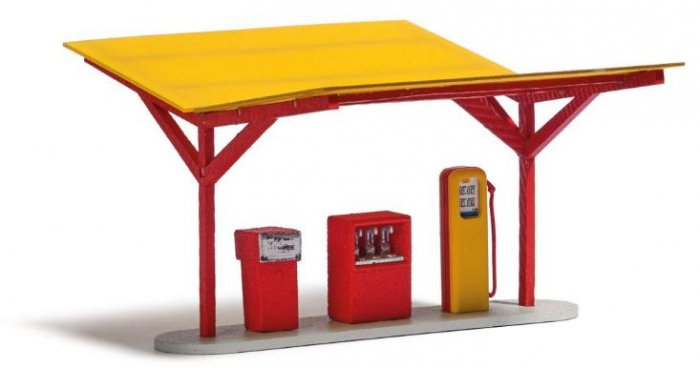 Busch 8810 - Bausatz, Minol Tankstelle Nenngröße TT